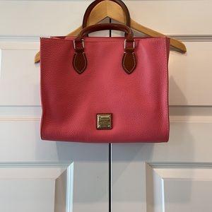 Dooney & Bourke Pebble Leather Janine Pink bag